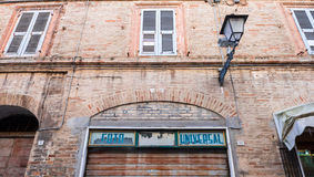 Old photographer shop closed in Italy Royalty Free Stock Photography