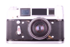Old photographic camera. Stock Photo