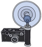 Old photographic camera Stock Images