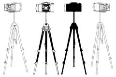 Old Photographic Camera Vector 032 Royalty Free Stock Photo