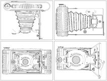 Old Photographic Camera Vector Royalty Free Stock Image