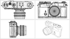 Old Photographic Camera Vector Stock Photo