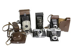 Old Photographic Cameras Royalty Free Stock Images