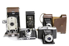 Old Photographic Cameras Stock Images