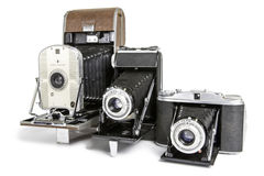 Old Photographic Cameras Stock Image