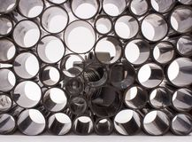 Old photographic film-abstract close up. Old photographic film on white -abstract stock images