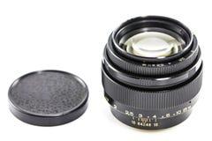 Old Photographic lens / Slr vintage lens / 85mm f2.0.  stock images