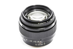 Old Photographic lens / Slr vintage lens / 85mm f2.0.  royalty free stock photos