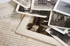 Free Old Photographs And Documents Stock Images - 25058614