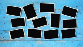 Old photographs,empty photo frames, Stock Image