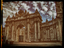 Old Photography Of Dolmabahce Palace Royalty Free Stock Photography