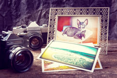 Old photograpy objects royalty free stock photography