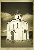 Old photos. Christian church in the old photos Royalty Free Stock Images