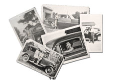 Old Photos People and Cars royalty free stock photos