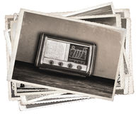 Old photos Vintage fashioned radio Royalty Free Stock Image