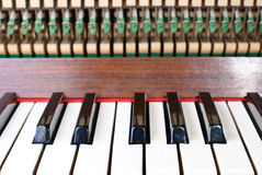 Old piano. Mechanics of an old piano Royalty Free Stock Image