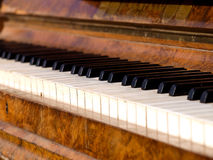Old piano. Detail of keys on an old piano Royalty Free Stock Image