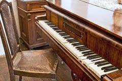 Old piano. Royalty Free Stock Image