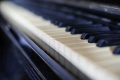 Old piano. Keyboard of old piano, closeup Royalty Free Stock Photo