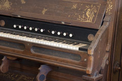 Old Piano. In California with decorative etchings Royalty Free Stock Photography