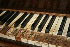 Old piano. Makro of an old piano Stock Photography