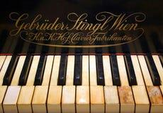 Old Piano. Keys with Logo Royalty Free Stock Image