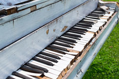 Old piano abandoned ouside. Photo of Old piano abandoned ouside stock images