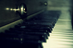 Old Piano. Old yet beautiful upright piano Royalty Free Stock Images