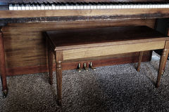 Old Piano With Bench Keys Ivory Ebony Stock Images