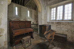 Old Piano in church Royalty Free Stock Images