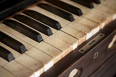 Old Piano Closeup Stock Photography