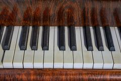 Old Piano Closeup Stock Image