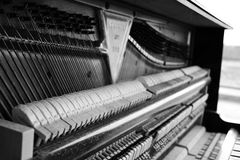 Old piano inside Stock Photography