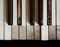 Old piano keyboard Royalty Free Stock Images