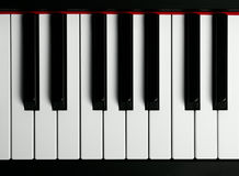 An old piano keyboard stock photos