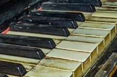 Old piano keyboard Stock Image