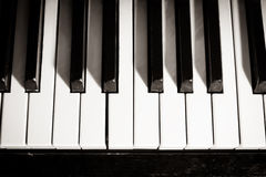 Old piano keyboard Stock Photos