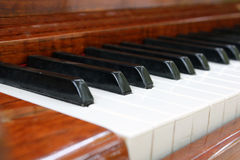Old piano keyboard Stock Photo