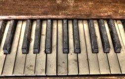 Old Piano Keys Stock Photos