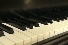 Old Piano Keys. Piano Keys from an old baby grand piano Royalty Free Stock Photography