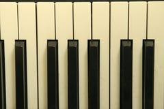 Old Piano Keys. Piano Keys from an old baby grand piano Stock Photo