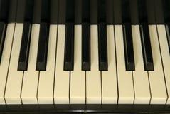 Old Piano Keys. Piano Keys from an old baby grand piano Stock Photos