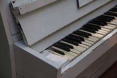 Old piano keys Stock Photography