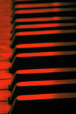 Old piano keys close up. Selective focus royalty free stock photos