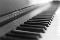 Old Piano Keys Royalty Free Stock Images