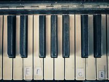 Old piano keys Stock Photo