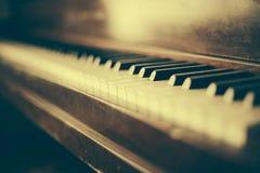 Old Piano Keys Vintage Wood Rustic Stock Photos