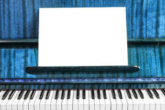 Vintage Old Piano And Sheet Of Music Notes Stock Photo