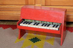 Old piano toy. Picture of the old piano toy Royalty Free Stock Photos