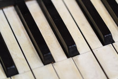 Old Piano View Stock Photography